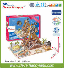aliexpress com buy new clever u0026happy land 3d puzzle model pirate