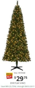 7 5 ft pre lit led wesley slim spruce set artificial