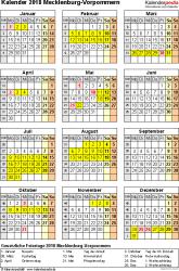 Kalender 2018 Feiertage Mv Kalender 2018 Mecklenburg Vorpommern Ferien Feiertage Excel