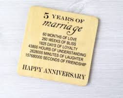 fifth anniversary gift fifth anniversary etsy