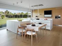 ilot cuisine table aménager sa cuisine 15 îlots de cuisine avec coin repas intégré