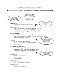 It Resume Skills Culinary Arts Resume Free Resume Example And Writing Download