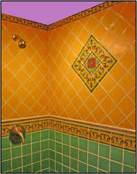 mexican tile bathroom ideas bathroom shower with colorful mexican tile and border