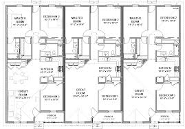 three plex floor plans triplex house plans 1 387 s f ea unit 3 beds 2 ba ea