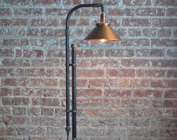 copper floor lamp etsy