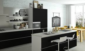 contemporary black and white kitchen red oak laminate kitchen