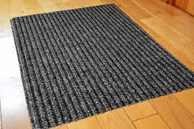 Unique Doormats Funkybuys Small Ribbed Grey Black Non Slip Door Mat Rubber