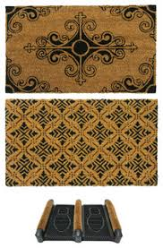 Coir And Rubber Doormat French Provincial Doormat Kit Set Of 3 Mediterranean Doormats