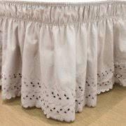 Wrap Around Bed Skirts Easyfit Wrap Around Eyelet Ruffled Bed Skirt Grey Walmart Com