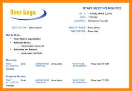 10 how to write minutes of meetings templates manager resume