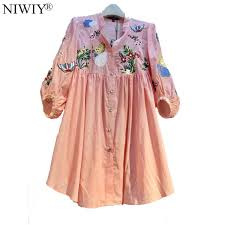 aliexpress com buy niwiy brand pink floral embroidery cotton