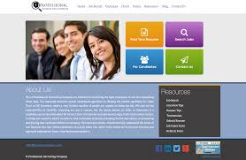 profrecruiters staffing agency san diego web design company