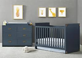 Infant Convertible Cribs by Dorel Living Baby Relax Miles 2 In 1 Convertible Crib Graphite Blue