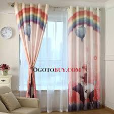 Multi Colored Curtains Colored Rainbow And Cartoon Patterns Poly Cotton Blend Fabric