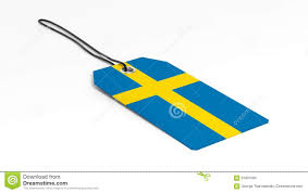 Flag Tag Made In Sweden Price Tag With National Flag Stock Illustration