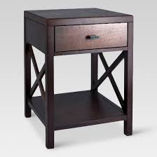 Accent Table With Drawer Owings Side Table With Drawer Espresso Threshold Target