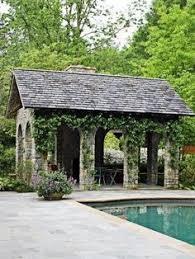 Backyard Pool Houses by Perfect Pool House Patios Stone And Backyard