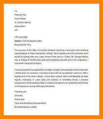 self introducing letter sample format