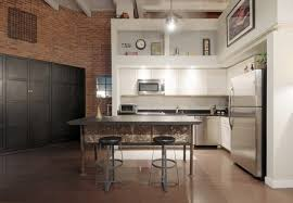 industrial kitchen island designs for retro look of the kitchen