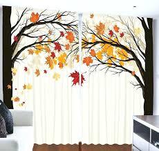 Fall Kitchen Curtains Autumn Leaves Kitchen Curtains Fall Valance Window Panels Valances
