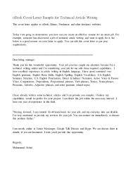 sample cover letter for writing job sample cover letter for