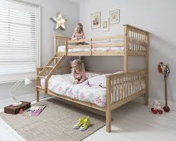 PINE Wooden Triple Bed Single Over Double Bed PINE Triple - Double bunk beds uk