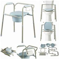 Commode Chair Over Toilet Toilet Bedside Commodes With Adjustable Height Ebay