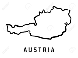 austria map vector austria map outline smooth country shape map vector royalty