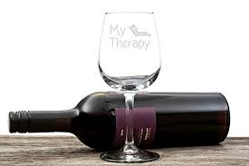 Wine Christmas Gifts My Therapy Funny Wine Glass 13 Oz U2013 Best Christmas Gifts For Women