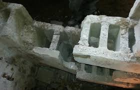 repairing damaged cement block foundations