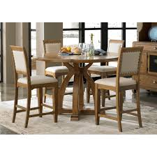 cafe dining 5 piece rectangular table and slat back chair set by liberty furniture auburn 5piece gathering table set dining table sets at hayneedle