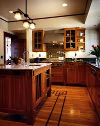 Craftsman Style Kitchen Lighting Bone Inlay Tray With Shaker Cabinets Kitchen Craftsman And