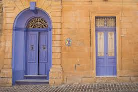 violet doors island malta stock photo image of paint 71840972