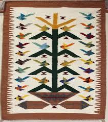 tree of life navajo rug bird themed navajo rug vintage area