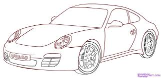 a drawing of a car how to draw a porsche step step cars draw cars