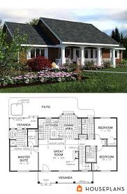 Farmhouse Ranch One Or Two Story Craftsman House Plan Country Farmhouse Back Hahnow