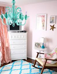 Nursery Chandelier Stacy Charlie Pink And Turquoise Mermaid Nursery