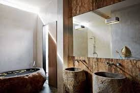 Modern Bathroom Design With Two Sinks And Bathtub Bali Bathroom - Bali bathroom design