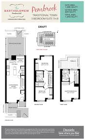 Townhome Floor Plan by The Bartholomew Condos U0026 Townhomes Regent Park Life