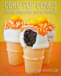 cake cones no bake oreo cake pop cones for from the oven