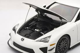 lexus lf a amazon com lexus lfa nurburgring package whitest white toys