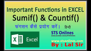 Countif Sumif Minif How To Use Sumif And Countif Function In Excel Ms Excel