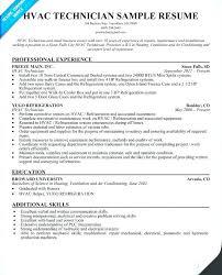 hvac technician resume exles hvac technician resume installer resume technician resumes sle