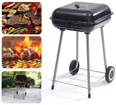 outdoor grill 17 5 charcoal backyard portable bbq with wheels 16