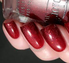 layering notd with sparkly gradient essie ruby slippers over my