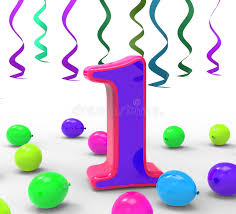 number one means year or stock illustration