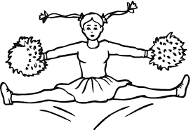 coloring page for sports kids cheerleaders dance coloring page