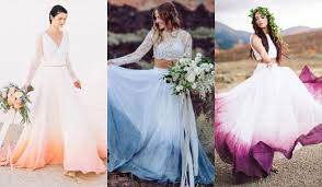 dip dye wedding dress the dip dye wedding dress is the prettiest wedding trend around