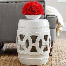 Ceramic Garden Decor Grey Porcelain Ceramic Garden Stool Indoor Outdoor Decor Unique