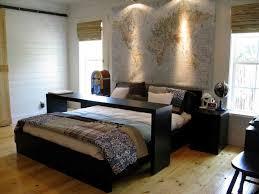 bedroom appealing golden oak wood bookcase wall unit headboard